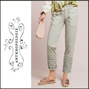 ANTHROPOLOGIE The Wanderer Eyelet Capri Pants 29